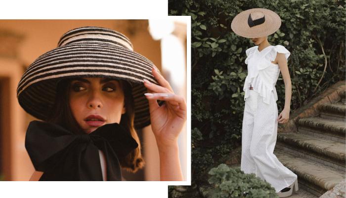 pamela tocados sombreros invitada masario