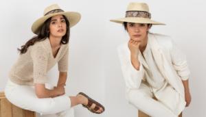 Sombrero Brandy Palma Natural, con cinta Animal Printmasario