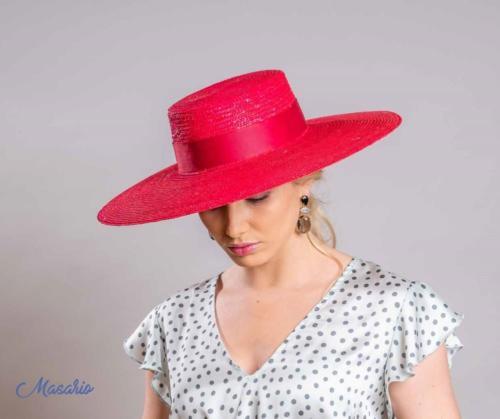 Sombrero Sevilla Rojo Fresa